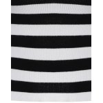Puff Sleeve Striped Short Knitwear for sale