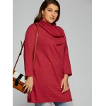 Plus Size Cowl Neck Textured Blouse deal
