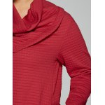 best Plus Size Cowl Neck Textured Blouse