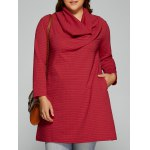 Plus Size Cowl Neck Textured Blouse