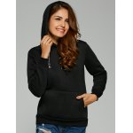cheap Chain Embellished Letter Print with Pocket Hoodie