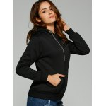 Chain Embellished Letter Print with Pocket Hoodie deal
