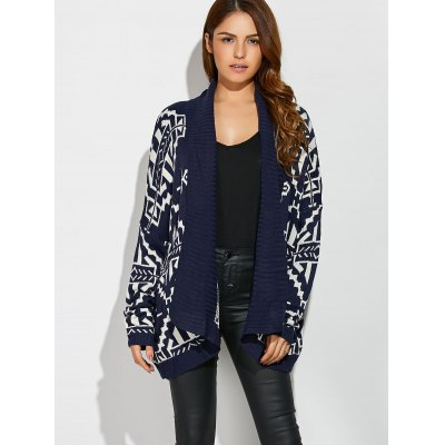 Geometrical Loose Collarless CardiganSweaters &amp; Cardigans<br>Geometrical Loose Collarless Cardigan<br><br>Type: Cardigans<br>Material: Polyester<br>Sleeve Length: Full<br>Collar: Collarless<br>Style: Formal<br>Pattern Type: Geometric<br>Season: Fall,Spring,Winter<br>Weight: 0.570kg<br>Package Contents: 1 x Cardigan