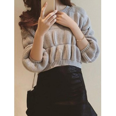 Drop Shoulder Ribbed SweaterSweaters &amp; Cardigans<br>Drop Shoulder Ribbed Sweater<br><br>Type: Pullovers<br>Material: Polyester<br>Sleeve Length: Full<br>Collar: Scoop Neck<br>Style: Casual<br>Pattern Type: Solid<br>Season: Fall,Spring,Winter<br>Weight: 0.360kg<br>Package Contents: 1 x Sweater