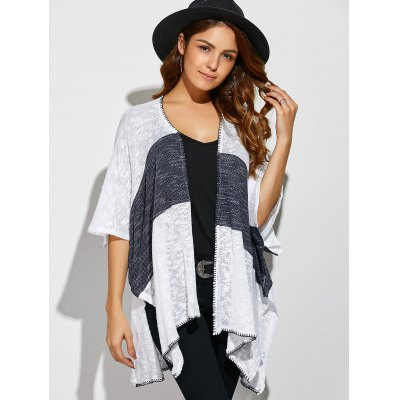 Two Tone Split Loose CardiganSweaters &amp; Cardigans<br>Two Tone Split Loose Cardigan<br><br>Type: Cardigans<br>Material: Polyester<br>Sleeve Length: Three Quarter<br>Collar: Collarless<br>Style: Casual<br>Pattern Type: Patchwork<br>Season: Fall,Spring,Summer,Winter<br>Weight: 0.370kg<br>Package Contents: 1 x Cardigan