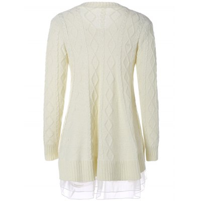 Cable Knit Pullover SweaterSweaters &amp; Cardigans<br>Cable Knit Pullover Sweater<br><br>Type: Pullovers<br>Material: Acrylic<br>Sleeve Length: Full<br>Collar: Round Neck<br>Style: Fashion<br>Pattern Type: Solid<br>Season: Fall,Spring<br>Weight: 0.413kg<br>Package Contents: 1 x Sweater
