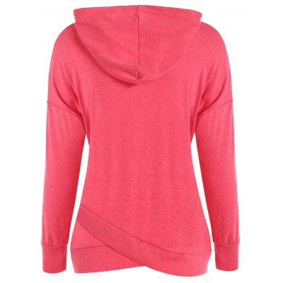 String Asymmetric HoodieSweatshirts &amp; Hoodies<br>String Asymmetric Hoodie<br><br>Material: Polyester<br>Clothing Length: Regular<br>Sleeve Length: Full<br>Style: Casual<br>Pattern Style: Solid<br>Season: Fall,Spring,Winter<br>Elasticity: Elastic<br>Weight: 0.470kg<br>Package Contents: 1 x Hoodie