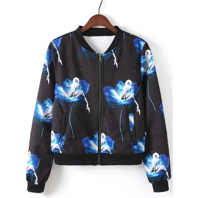 Elf Printed Bomber Jacket