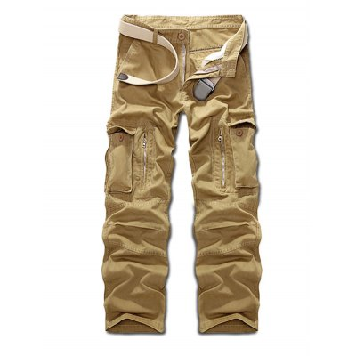 Zippered Cargo Pants
