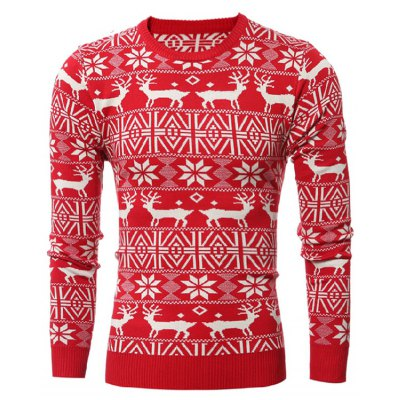 Crew Neck Christmas Sweater