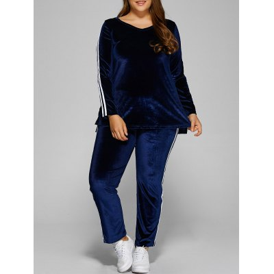 Applique Velvet T-Shirt+Pants