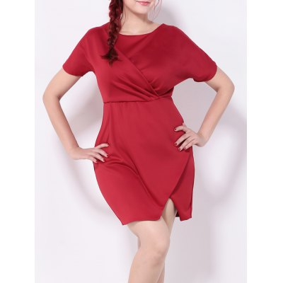 Ruched Furcal Tulip Dress