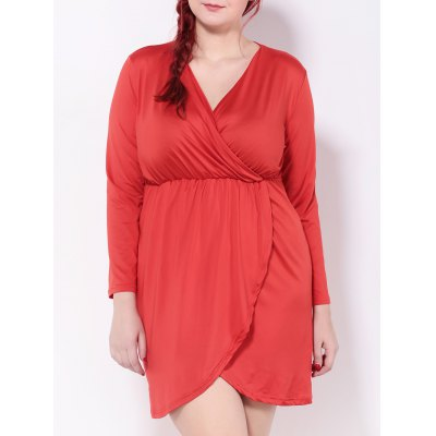 Empire Waist Surplice Dress