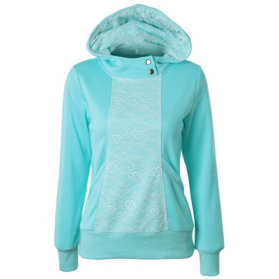 Lace Detail Pullover Hoodie