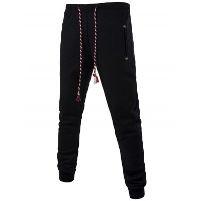 Colorful String Lace-Up Plus Size Beam Feet Jogger PantsPlus Size Bottoms<br>Colorful String Lace-Up Plus Size Beam Feet Jogger Pants<br><br>Style: Fashion<br>Pant Style: Jogger Pants<br>Pant Length: Long Pants<br>Material: Cotton,Polyester<br>Fit Type: Regular<br>Front Style: Flat<br>Closure Type: Drawstring<br>Waist Type: Mid<br>With Belt: No<br>Weight: 0.550kg<br>Package Contents: 1 x Jogger Pants