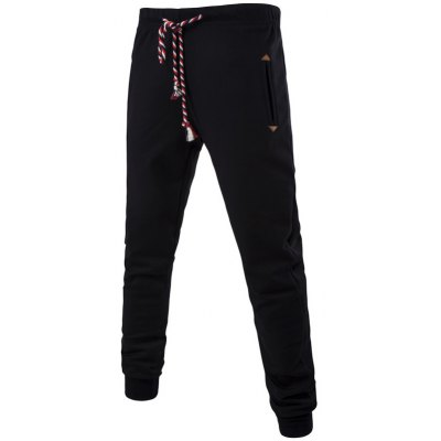 Colorful String Lace-Up Plus Size Beam Feet Jogger Pants