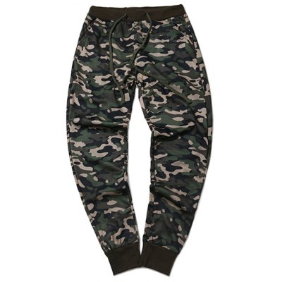 Plus Size Camouflage Beam Feet Jogger Pants