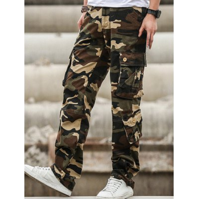 Multi Pockets Design Straight Camouflage Cargo PantsPlus Size Bottoms<br>Multi Pockets Design Straight Camouflage Cargo Pants<br><br>Style: Casual<br>Pant Style: Cargo Pants<br>Pant Length: Long Pants<br>Material: Cotton,Polyester<br>Fit Type: Loose<br>Front Style: Pleated<br>Closure Type: Zipper Fly<br>Waist Type: Mid<br>With Belt: No<br>Weight: 0.600kg<br>Package Contents: 1 x Cargo Pants