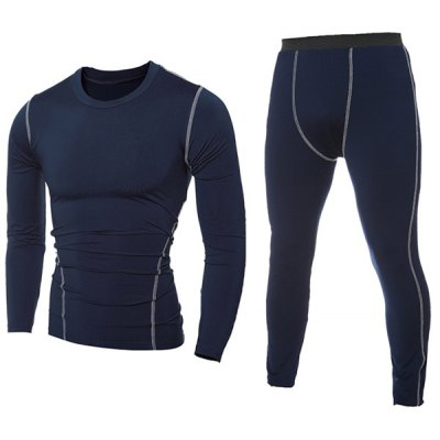 Contrast Stitching T-Shirt and Skinny Gym Pants Twinset