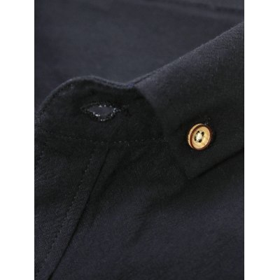 Long Sleeve Plain Button Down Shirt от GearBest.com INT