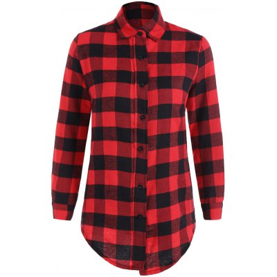Fitted Scottish Checked Shirt