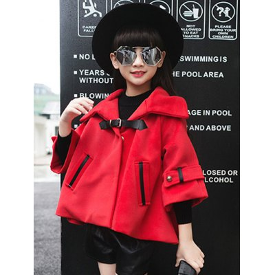 Hooded Buckle Wool Coat