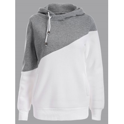 Two Tone Plus Size Jumper Hoodie