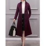 Belted A Line Woolen Overcoat for sale