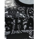 Crew Neck Paisley and Number Print Long Sleeve Sweatshirt deal