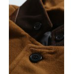 Stand Collar Button Up Back Vent Woolen Coat for sale