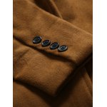 Stand Collar Button Up Back Vent Woolen Coat photo