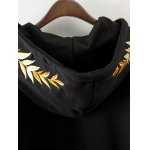 Front Pocket Drawstring Embroidered Hoodie deal