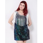 Sequined Fringed Cut Out Mini Party Dress deal