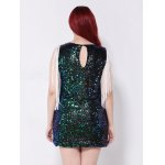 best Sequined Fringed Cut Out Mini Party Dress