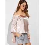 Off The Shoulder Asymmetrical Blouse deal