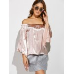 cheap Off The Shoulder Asymmetrical Blouse