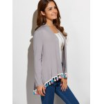Fringes Collarless Cardigan for sale