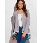Fringes Collarless Cardigan deal
