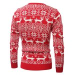 Deer Pattern Crew Neck Christmas Sweater deal