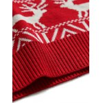 Deer Pattern Crew Neck Christmas Sweater photo