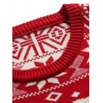 Deer Pattern Crew Neck Christmas Sweater for sale