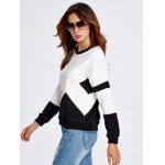 best Drop Shoulder Geometry Panel Black and White Sweatshirt