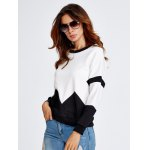 Drop Shoulder Geometry Panel Black and White Sweatshirt deal
