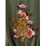 best Drawstring Floral Embroidered Field Jacket