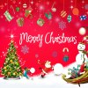 Wholesale Merry Christmas Shopwindow Removable Wall Stickers for sale