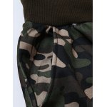 Plus Size Camouflage Beam Feet Jogger Pants for sale