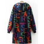 cheap Printed Hooded Quilted Coat