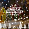 Merry Christmas Banner Glass Window Decoration Wall Stickers deal