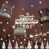 best Merry Christmas Banner Glass Window Decoration Wall Stickers