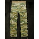 Drawstring Cuff Multi Pockets Camo Cargo Pants deal